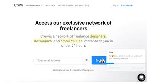 websites to getting lance jobs fast updated  crew is one of the top rising lance portals that work specifically designers and developers