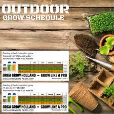 Dutch Nutrients Feeding Chart Organic Nutrients For Marijuana Plants Liquid Fertilizer For Hydroponic Vegetables Fruit Cannabis 4pack Root Stimulator Healthy Growth