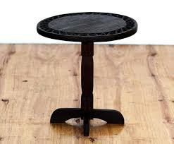 round dark wood side table in and out sa c coffee black small 840