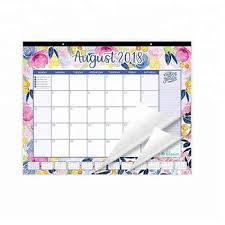 Amazon Hot Sell Printed Planner 2018 2019 Academic Year Desk Wall Calendar Planner Printing Weekly Monthly Wall Planner Notepad Buy Wall Calendar