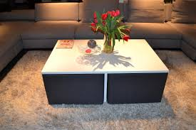 Coffee Table Stool Simple Yet Clever Coffee Table Design With Integrated Chairs