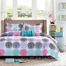 Hot Pink Blue Black Circles Girls Bedding Modern Geometric ... & Hot Pink Blue Black Circles Girls Bedding Modern Geometric Comforter or  Quilt Set Twin XL Full Adamdwight.com