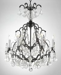 large french wrought iron and crystal chandelier by maison bagues