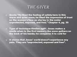 The Giver Quotes Awesome The Giver Literary Techniques Ppt Download