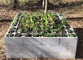 super simple concrete block garden