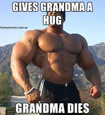 gives grandma huge she dies gym meme | Funny Memes via Relatably.com