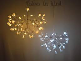 small heracleum leaves led pendant lamp tree branch chandelier light twigs suspension lighting pendant light kits iron pendant light from bamboolighting