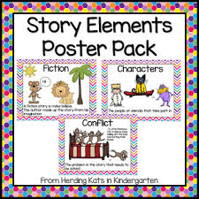 Story Elements Kindergarten Anchor Chart Story Elements Kindergarten Worksheets Teaching Resources