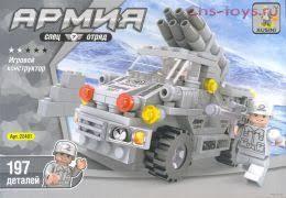 """<b>Конструктор Ausini серия Армия</b> """"Машина с ракетной установкой ..."""
