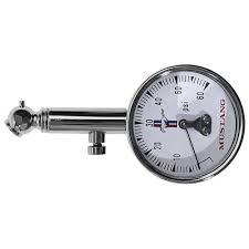 tire pressure gauge. scott drake tire pressure gauge with tri-bar logo and case
