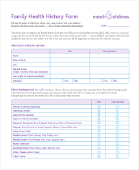 health history forms sample health history form 10 free documents in pdf