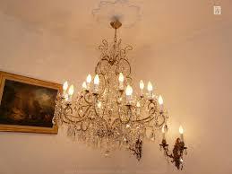 crystal chandelier with 18 lights crystal strass Ø 90 cm
