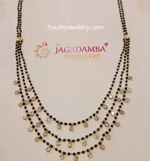 Indian Jewellery Designs Mangalsutra Three Step Black Diamond Mangalsutra Indian Jewellery Designs