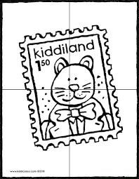 Puzzel Postzegel Kiddicolour Throughout Maak Je Eigen Puzzel