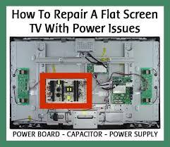 repair a flat screen lcd tv power issues power board how to repair an lcd flat screen tv power issues