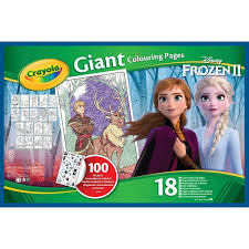 Select from 35450 printable coloring pages of cartoons, animals, nature, bible and many more. Crayola Disney Frozen 2 Giant Colouring Pages With Stickers Smyths Toys Uk