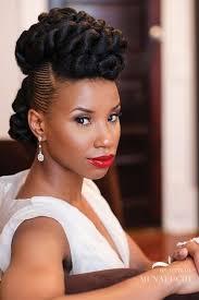 tremendous natural wavy up do wedding hairstyle black women