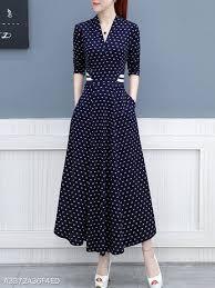 Berrylook Size Chart V Neck Printed Maxi Dress Berrylook Com In 2019 Dresses