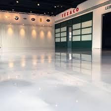 garage floor coating ideas white sparkling