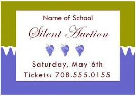 silent auction program template silent auction template free sample templates