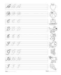 Cursive Writing Book 1 Printable Coloring Worksheet