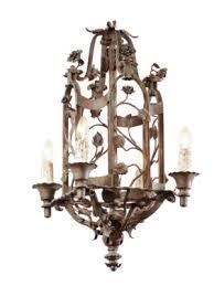 iron lantern with 4 lights fl motif