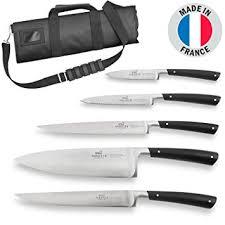 Sabatier Edonist Mallette 5 Couteaux De Cuisine Acier Inox 100