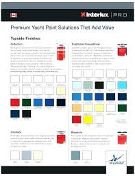Brightside Marine Paint Color Chart Interlux Brightside Interlux Brightside Paint Application
