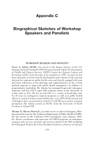 Appendix C Biographical Sketches Of Workshop Speakers And Panelists