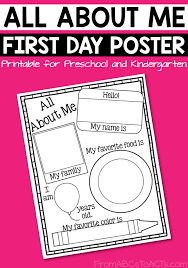 Create free printable flyers, posters, social media graphics and videos in minutes. Printable All About Me Poster From Abcs To Acts