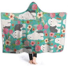 Hooded Blanket 3D Old English Sheepdog ...