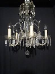 large antique crystal cut glass chandelier stunning hanging light fixture