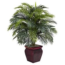 Areca With Decorative Planter Polyester Plant  Free Shipping Decorative Plants For Home