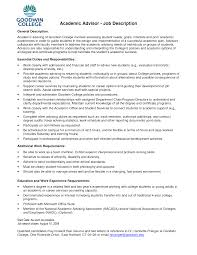 Student Advisor Resume academic advisor resume sample Enderrealtyparkco 1