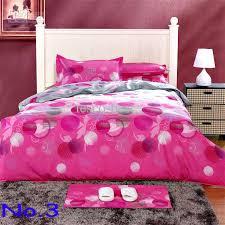 Pink 100% Cotton Printed Soften Bedding Set Creative Quilt Cover ... & Pink 100% cotton Printed Soften Bedding Set 4Pcs Creative Quilt Cover Flat  Sheet 2 Pillowcase Adamdwight.com