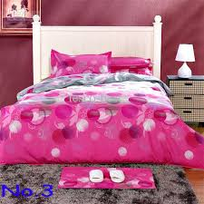 pink 100 cotton printed soften bedding set creative quilt cover flat sheet 2 pillowcase king size duvet cover sets duvet cover sets queen from tesco best