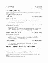 Example Resume Objective Lovely Resume Goal Examples Profiles
