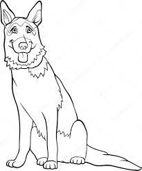 Kleurplaten Honden Duitse Herder