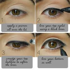 someone punched you the trick is to keep the color below your eyelid crease and really close to your lower lashes the subtle shadow makes your eyes