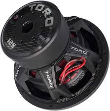 """Buy TORO TECH – FIERCE 12S, 12 Inch 1000 Watts RMS – 2000 Watts MAX – Dual 4  Ohm 2.5 Inch Voice Coil, 12"""" Car Audio Subwoofer for Cars, Trucks, Jeeps,  Boats,"""