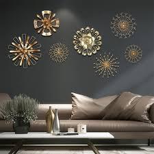 modern blossom abstract metal wall art home decor iron gold wall abstract metal wall art