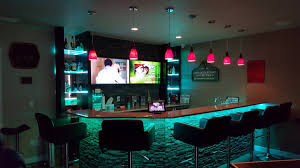 Home Basement Bars Tech Home Solutions Basement Bar Automation And Control Youtube