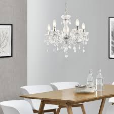 Détails Sur Luxpro Lustre élégant Luminaire Suspendue Métal Et Plastique 5 X E14 Blanc
