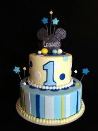 1st Birthday Mickey Mouse Cake I Made For A Little Boy Named