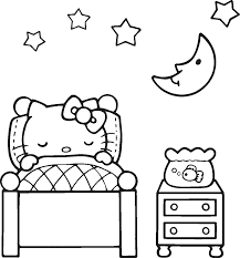 You can easily print or download them at your convenience. Hello Kitty Coloring Pages Sleeping Educative Printable Hello Kitty Colouring Pages Hello Kitty Coloring Kitty Coloring