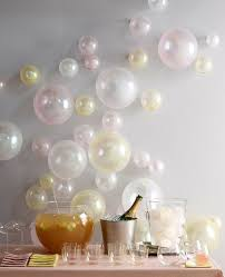 make balloons blown up to diffe sizes and just taped to the wall