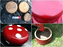 outdoor mushroom decor wooden bowls garden decoration rustic outdoor mushroom chair yard decor ideas projects patio mushroom garden yard decor rivendale