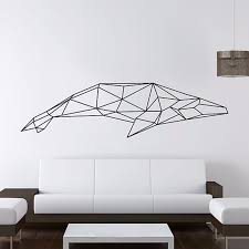 Small Picture Aliexpresscom Buy Geometric Animals Shark Vinyl Wall Decal