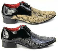 Mens Designer Dress Shoes Mens Italian Designer Dress Shoes Snakeskin Pointed Leather Lined Black Beige