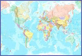 giant wall maps classic huge laminated